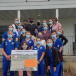 Photo of nursing students, who helped public history and Latin American and Latinx studies students connect with Spanish-speaking farmworkers they know through their clinical work. (Submitted photo)