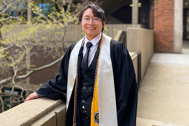 Photo of Roe Jing Draus, who graduated from UWM in May with a degree in architectural studies and will return to the university to pursue a master's degree. (Photo courtesy of Roe Jing Draus)