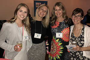 Photo caption: Unusual in the male-dominated field of engineering, most of the employees at Stormwater Solutions Engineering have been women, including Cassandra Hoppe (from left), Alyssa B. Schmitt, Carrie Bristoll-Groll and Adrienne Cizek. All but Cizek are UWM grads. (Photo courtesy of Carrie Bristoll-Groll)