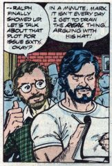 Photo of 1980 Marvel comic, in which Mark Gruenwald himself first appeared.