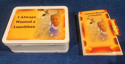 Photo of Lunchbox and Chapbook artwork by Karen Drewry, UW-Stevens Point graduate