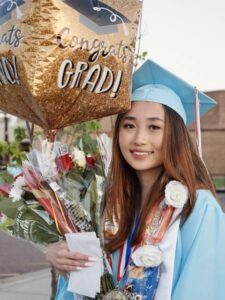 Photo of Seng Moua, who became the second-ever valedictorian at Eau Claire North High School to have come up through the Upward Bound program at UW-Eau Claire. Seng earned a 35 on the ACT, completed high school with a 4.0 cumulative GPA, and will attend Stanford.