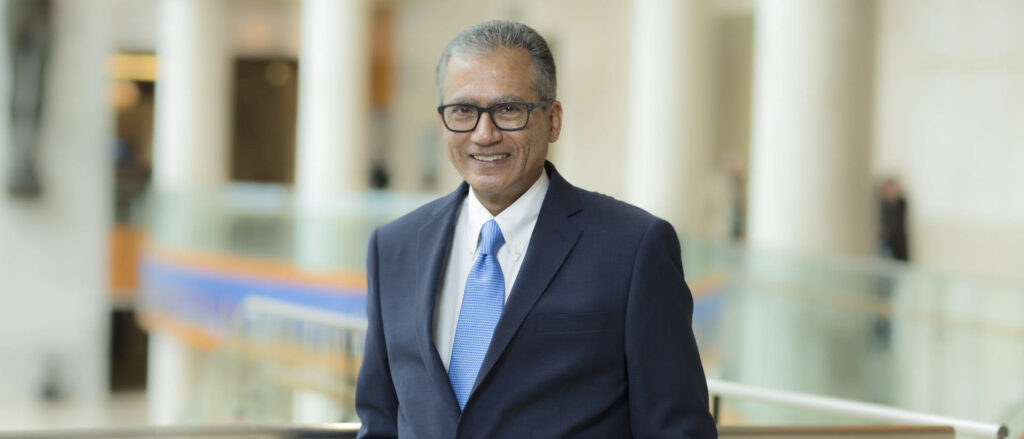 Photo of Dr. Rajeev Chaudhry, an expert in analyzing large datasets to help health care organizations improve patient care. His expertise will help UW-Eau Claire as it grows its informatics and AI programs.