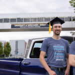 Photo of the Grulkowski brothers, first-generation UW-Stout graduates who are seeking to provide solutions in packaging and computer engineering at regional companies