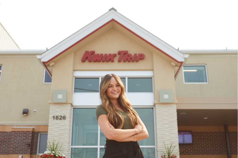 Photo of Paige Forde, UWL '19, is the witty voice behind Kwik Trip's social media accounts. In recent years, Kwik Trip's brand has evolved into a symbol for the Midwestern way of life — in part thanks to effective use of marketing and social media.