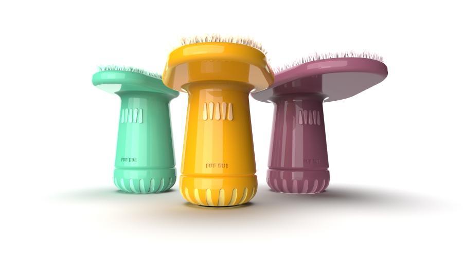Photo of PupRub in three different colors. / Photo courtesy Claire Dronen