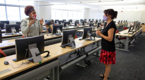 Photo of UW-Whitewater computer lab