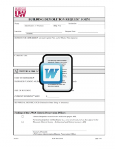 Building Demolition Request Form Template