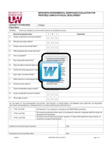 Environmental Significance Evaluation (WEPA/NEPA) Template