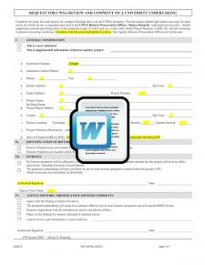 Historic Assessment Form (UW) Template