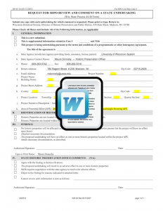 Historic Assessment Form (WI) Template