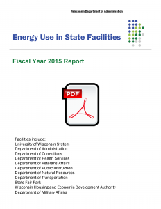 Fiscal Year 2015 Energy Use in State Facilities graphic