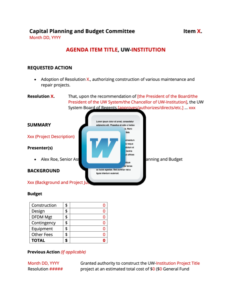 Agency Request (BOR) Template