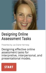 Designing Online Assessment Tasks for all 3 modes of communication