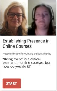 Establishing Presence in Online Courses: How to