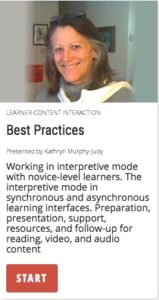 Best Practices: working in the interpretive mode with novice learners.