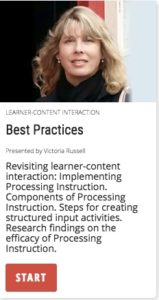 Best Practices: learner-content interaction in processing instruction