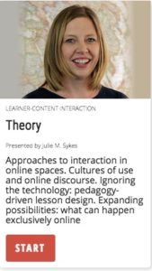 Theory: Approaches to interaction in online spaces
