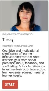 Theory: cognitive and motivational significance of learner-instructor interaction.