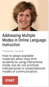 Addressing Multiple Modes in Online Language Instruction