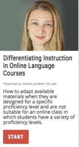 Differentiation Instruction in Online Languages Courses
