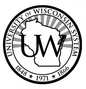 Black UW System Seal