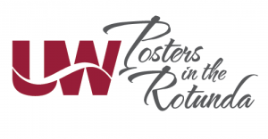 UW posters in the rotunda logo