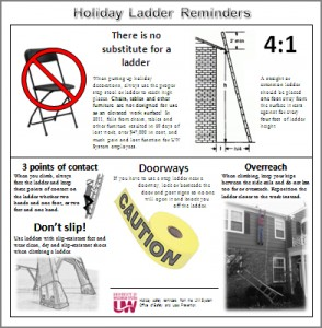 Holiday ladder reminders