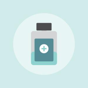 Pill bottle graphic