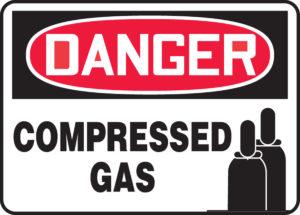 Compressed gas signage