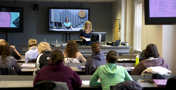 interactive classroom using Skype technology