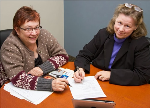 SBDC Director Anne Hlavacka and Business Outreach Specialist Terri Urbanek