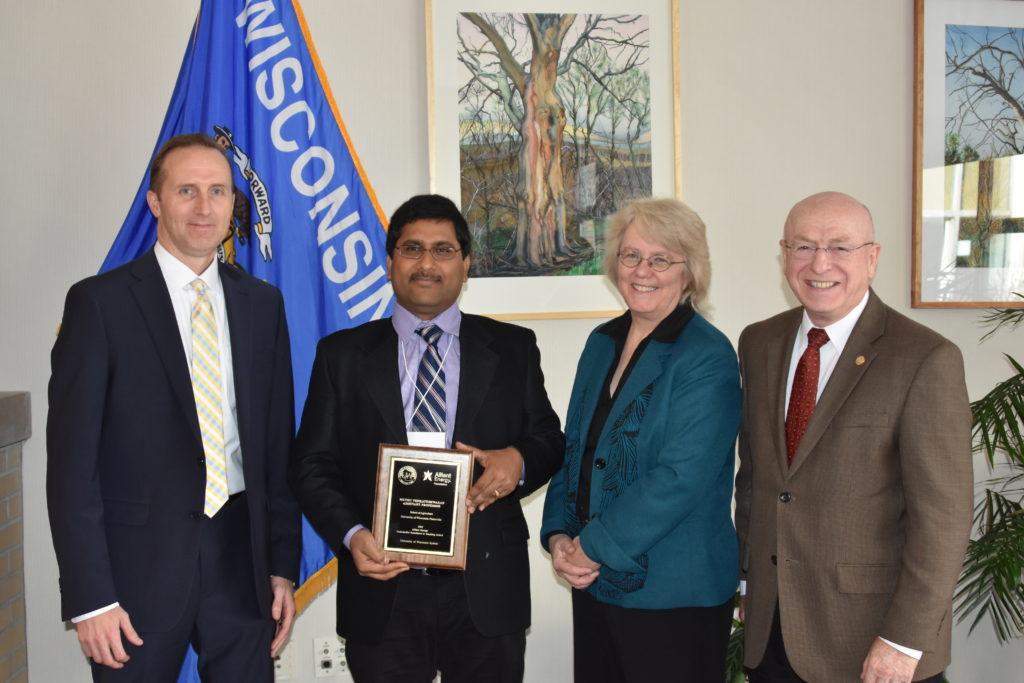 From left: Robert Durian, Muthu Venkateshwaran, Karen Schmitt, Ray Cross