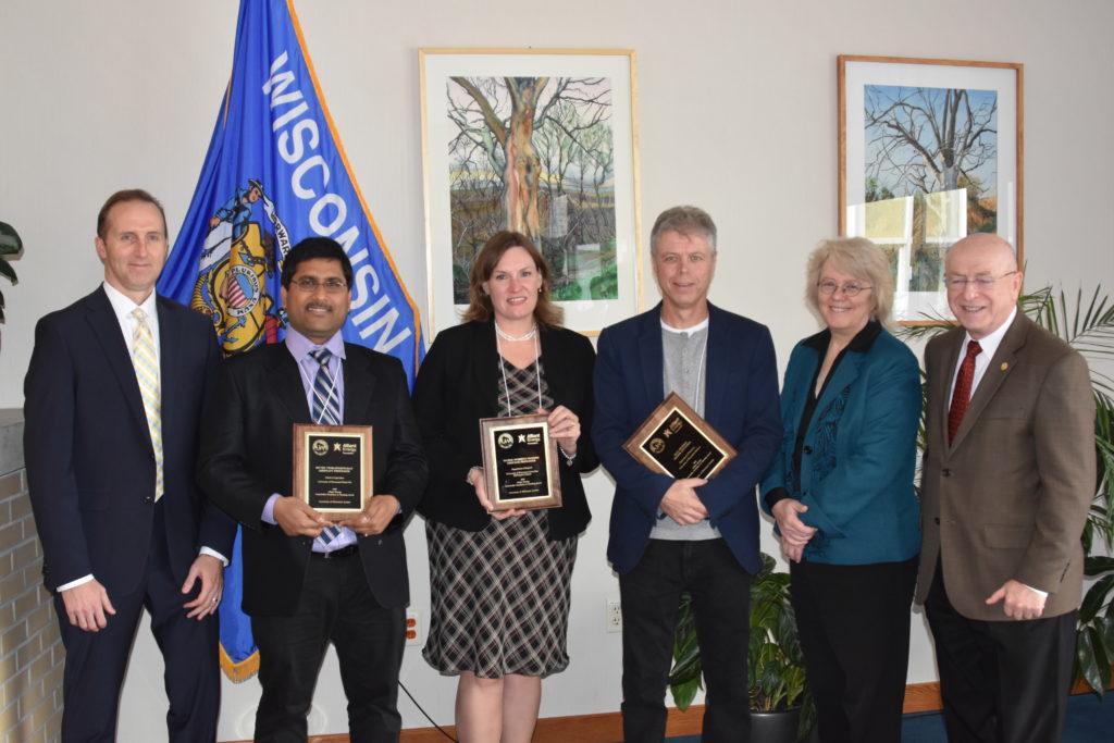 Underkofler Award Recipients; from left: Robert Durian, Muthu Venkateshwaran, Valerie Murrenus Pilmaier, Paul Hooker, Karen Schmitt, Ray Cross