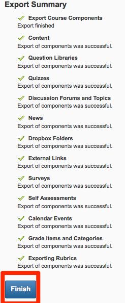 Export Summary Image