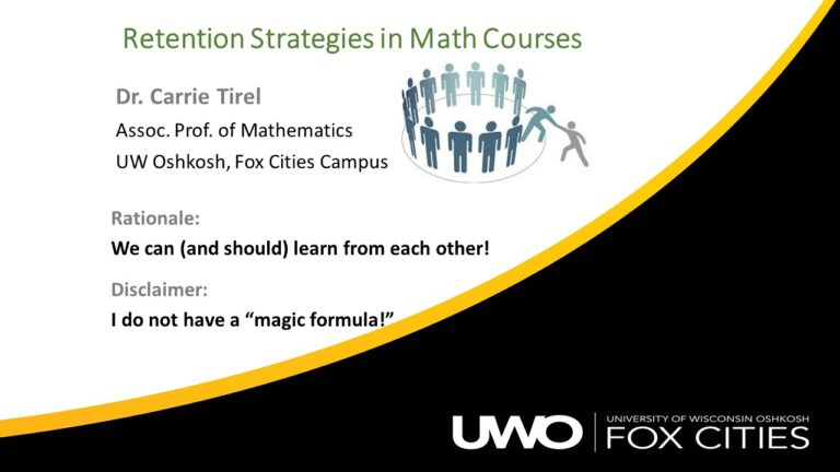 Retention Strategies in Math Courses slide 1