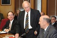 President Reilly, Regent President Marcovich and Gov. Doyle