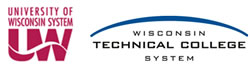 Logos for the University of Wisconsin System and the Wisconsin Technical College System