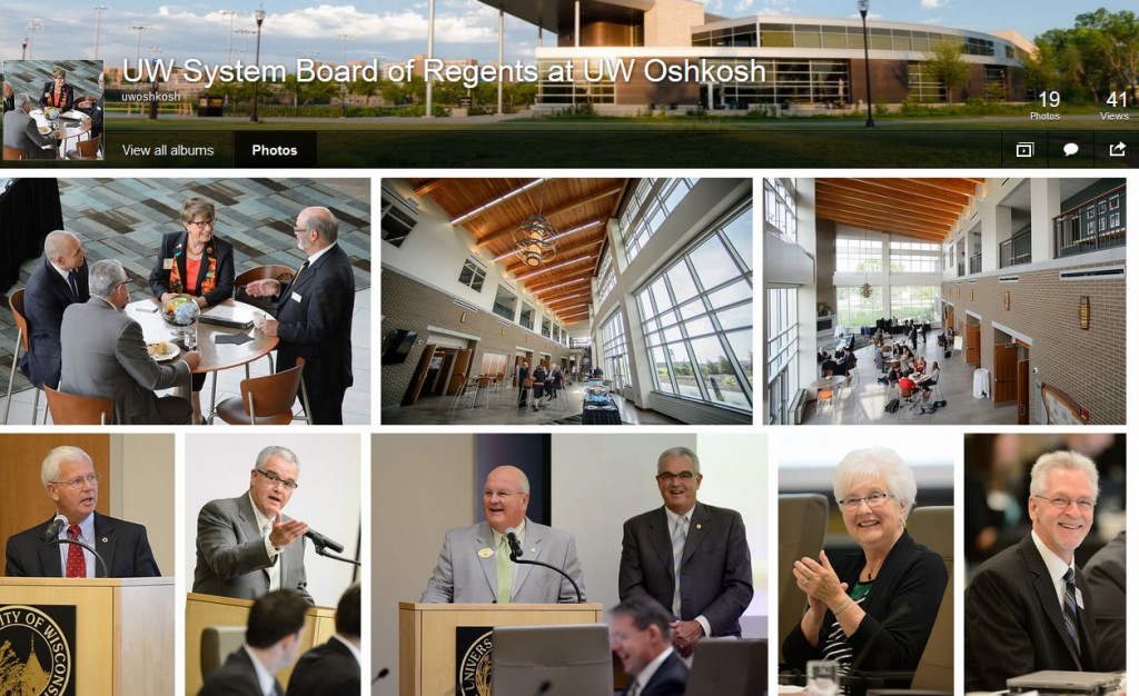 More meeting photos at UW-Oshkosh's photo gallery.