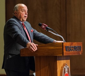 Photo of Barry Alvarez, UW-Madison athletic director