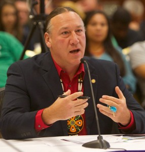 Chairman Mic Isham, of the Lac Courte Oreilles Band of Lake Superior Chippewa Indians.