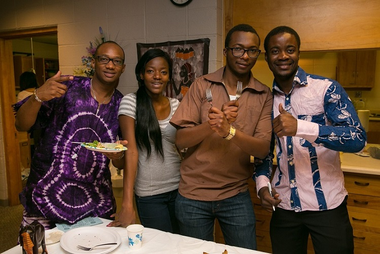 African / African Americans having a dinner