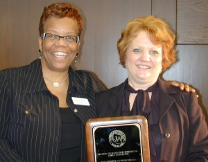 Regent Danae Davis (left) and Professor Patricia Bromley, Program Coordinator