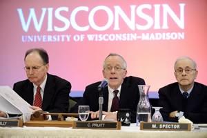 (from left) President Reilly, Regent President Pruitt, and Regent Spector.
