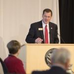 Chancellor Van Galen at podium