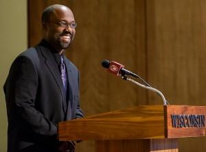 Photo of 2014 Diversity Award winner Brett Carlton Woods, Assistant Professor of Biological Sciences, UW-Whitewater