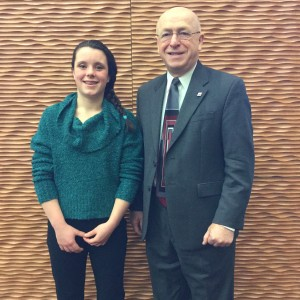 Isabella (Izzy) Quattrucci with President Cross