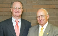 Newly elected Regent President Toby E. Marcovich (right) and Vice President David G. Walsh