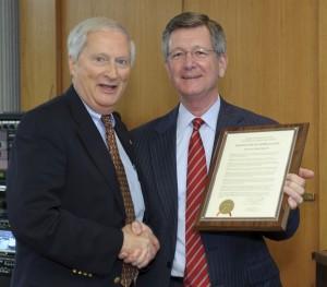 Chancellor Erlenbach and Regent Bradley
