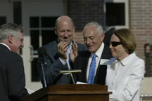 Ceremony honoring Sheldon B. Lubar (second from right) and his wife, Marianne